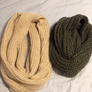 knit infinity scarf bundle